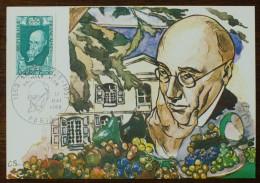 CM 1969 - YT N°1594 - ANDRE GIDE, écrivain - PARIS - Cartas Máxima