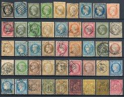 FRANCE - Collection 45 timbres classiques AVANT 1900 - Cote 1.070 € - def/B/TB