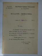 BULLETIN TRIMESTRIEL - ECOLE PRIMAIRE SUPERIEURE PROFESSIONNELLE DE CASTRES - ACADEMIE DE TOULOUSE - 1934 - Diplomas Y Calificaciones Escolares