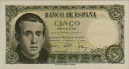 ESPAÑA //  -- 5 PESETAS ( 1951 ) -- VF -- - [ 3] 1936-1975 : Régimen De Franco