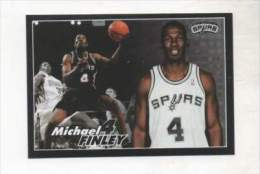 FIGURINA STICKER BASKETBALL STARS NBA 2009-2010 - PANINI - MICHAEL FINLEY - SPURS - N.366 - Panini