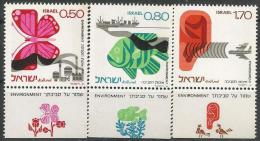IS 1977-656-8 ENVINROMENT, ISRAEL,1 X 3v, MNH - Israel