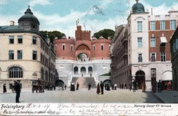 HELSINGBORG - Konung Oscar II.s Terass, Karte Gel.1904, Stempel Kjobenhavn, Helsingbr, Rechteckstempel Frau S... - Schweden