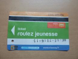 Ticket de Bus r�seau Penn-ar-Bed (roulez jeunesse) 2013 type 1