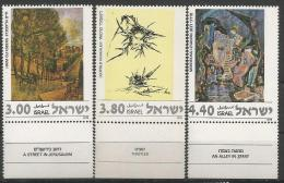 IS 1978-733-5  PAINTING, ISRAEL,1 X 3v, MNH - Israel