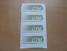 "Ticket de transport (Bus) ""CONSORTCITRANSPORTSMALLO RCA (CTM)"" ESPAGNE"