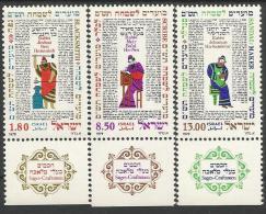 IS 1979-799-801 SAGES CRAFTSMAN, ISRAEL,1 X 3v, MNH - Israel