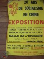 PERIODE REVOLTE ETUDIANTE MAI 68 AFFICHE  ORIGINALE TRES RARE  EXPOSITION 20 ANS DE SOCIALISME EN CHINE