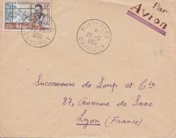 Brief DAHOMEY 1956 - 15 F Auf Brief Gel.n.Lyon - Frankreich (alte Kolonien Und Herrschaften)