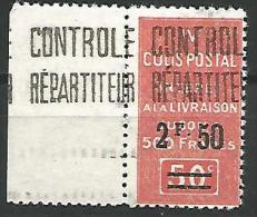 ALGERIE COLIS POSTAUX YVERT  N� 26 / MAURY N� 34 NEUF** TB / 2 SCANS