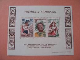 POLYNESIE   BF 4 * *     POLYNESIENS - Blocchi & Foglietti