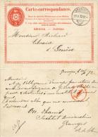 E189 Ganzs. Schweiz St. Grenchen 1872 - Ganzsachen