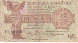 1 PESETA 1937 REPÚBLICA ESPAÑOLA, - 1-2 Pesetas