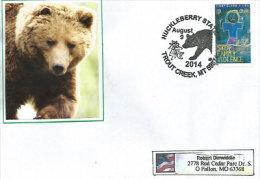 ETATS-UNIS. Les Ours Au Montana, Lettre Postée à La Station D´Huckleberry Adressée Au Missouri. - Briefe U. Dokumente