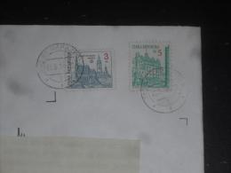 LETTRE TCHEQUIE TCHEQUE CESKA AVEC YT 16 ET 17 - CESKY KRUMLOV UNESCO - PLZEN PILSEN - - Tchéquie