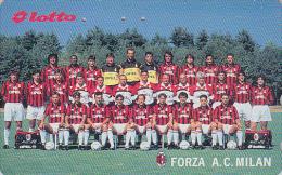 Télécarte Japon - Sport - FOOTBALL - FORZA A.C. MILANO / ITALIA - Soccer Japan Phonecard / ITALY - Scheda Tel - 914 - Kino