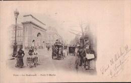 Paris (75) Les Boulevards Porte St Martin CPA 1899 - Francia