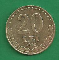 = ROMANIA - 20 LEI - 1993 -   # 301  = - Romania