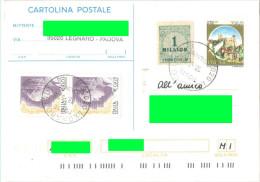 J573) ITALIA CARTOLINA POSTALE CASTELLI LIRE 750 DEL 1995 VIAGGIATA - 6. 1946-.. Repubblica