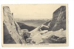 10337 - Les Diablerets Intérieur D'une Crevasse - VD Vaud