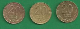 = ROMANIA - 20 LEI - 1991 - 1992 - 1993  - 3 PIECES  # 306  = - Roumanie