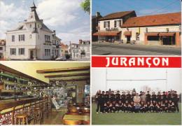CPSM JURANCON 64 LA MAIRIE LE BAR TABAC DU RUGBY L EQUIPE DU RUGBY CLUB JURANCONNAIS
