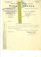 25 - Doubs - BEURE - Facture MASSON - Fabrique De Parquets Chêne – 1933 - REF 126 - France