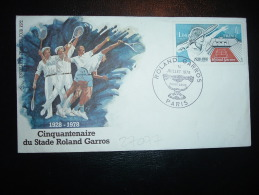 LETTRE TP ROLAND GARROS 1,00F OBL. 14 JUILLET 1980 PARIS COUPE DAVIS - Tennis