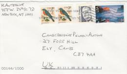 USA COVER 84c YOSAMITE PARK 4c FLANIGAN 2x3c BIRD Stamps To GB - United States
