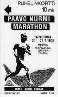 FINLAND - Paavo Nurmi Marathon 93, Turun Puhelin telecard, tirage 6000, exp.date 07/94, used