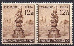 Deutsches Reich 1941 DR 886 Paar ** 10€ 1200 Jahre Fulda Flora-Vase Art Stamp Of Old Germany - Allemagne