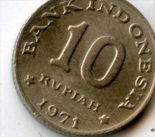 Indonesia 10 Rupiah 1971