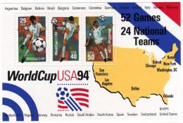 U.S.A: 1994 Très Beau Bloc Coupe Du Mode 1994  Traces De Charnières - World Cup