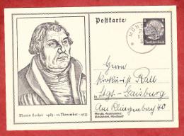 P 224 Hindenburg, Abb: Martin Luther, Moensheim Nach Stuttgart 1933 (60880) - Deutschland