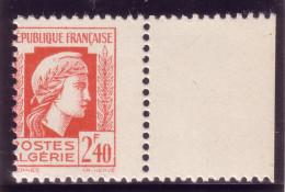 ALGERIE -MARIANNE D'ALGER - N°215 -  VARIETE NON SIGNALEE - PIQUAGE A CHEVAL- NEUF ** (sans Trace). - Alexandria (1899-1931)
