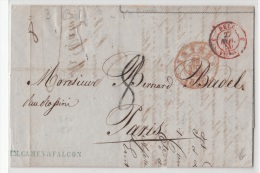 BELGIUM USED COVER 18/11/1850 ANVERS VERS PARIS - 1830-1849 (Belgique Indépendante)