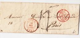 BELGIUM USED COVER 28/10/1850 LIEGE VERS PARIS - 1830-1849 (Belgique Indépendante)