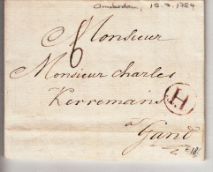 BELGIUM USED COVER 19/07/1784 AMSTERDAM VERS GAND - 1714-1794 (Oostenrijkse Nederlanden)