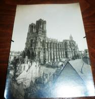 PHOTO  AERIENNE DE LA CATHEDRALE DE REIMS 1916 - Luoghi