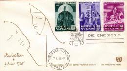 VATICANE - First Day Cover 1960 - 3 Sondermarken - Vatikan