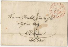 -= Sénéchal #4324 Sur Lettre De PARIS Pour BEAUNE (Côte-d'Or) -1838 =- - 1921-1960: Modern Period