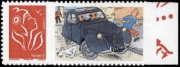 Tintin - timbre Citro�n 5 - Adh�sif, neuf