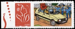 Tintin - timbre Citro�n 10 - Adh�sif, neuf