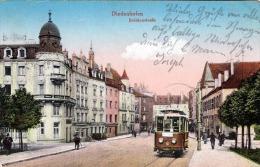 DIEDENHOFEN - Brückenstraße, Strassenansicht, Strassenbahn, Karte Gel.1915, Violetter Sonderstempel Diedenhofen > - Non Classificati