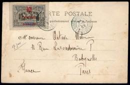 COTE DES SOMALIS:  n�31 sur CP du 24/6/1902 (1�jour d'�mission !!!)