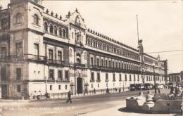 Original 1950s Card  - Real Photo - Mexico - Palacio National - Animated - Written - 2 Scans - Mexico