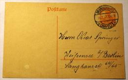 GERMANY REICH 1917 - POSTCARD USED - Deutschland