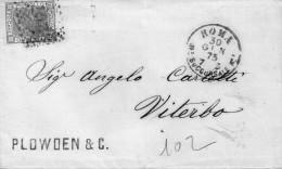 1875   LETTERA CON ANNULLO ROMA - 1861-78 Vittorio Emanuele II