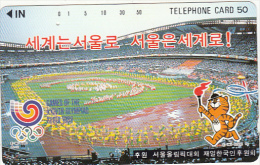 JAPAN - Seoul(330-11476) ,NTT Telecard 50 Units, Used - Jeux Olympiques