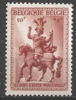 1941 10c + 5c Statue,  Mint Hinged - Belgium
